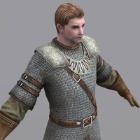 old male mail armor 3d obj