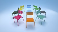 fermob facto chair 3d 3ds