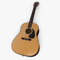 obj acoustic guitar