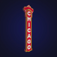 3d chicago sign