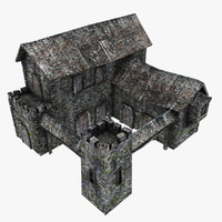 3d medieval barracks model