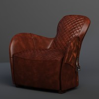 3d model saddle armchair timothy