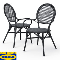 almsta wicker dining chair 3d max