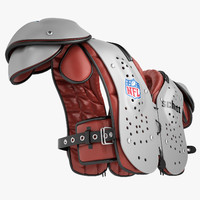 football shoulder pad 3d max