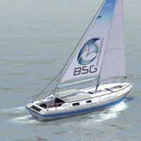 3ds max racing yacht