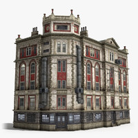 neoclassical 5-storey house 3d model