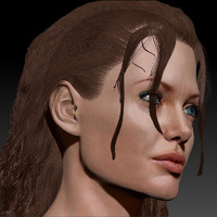 female head angelina jolie 3d model