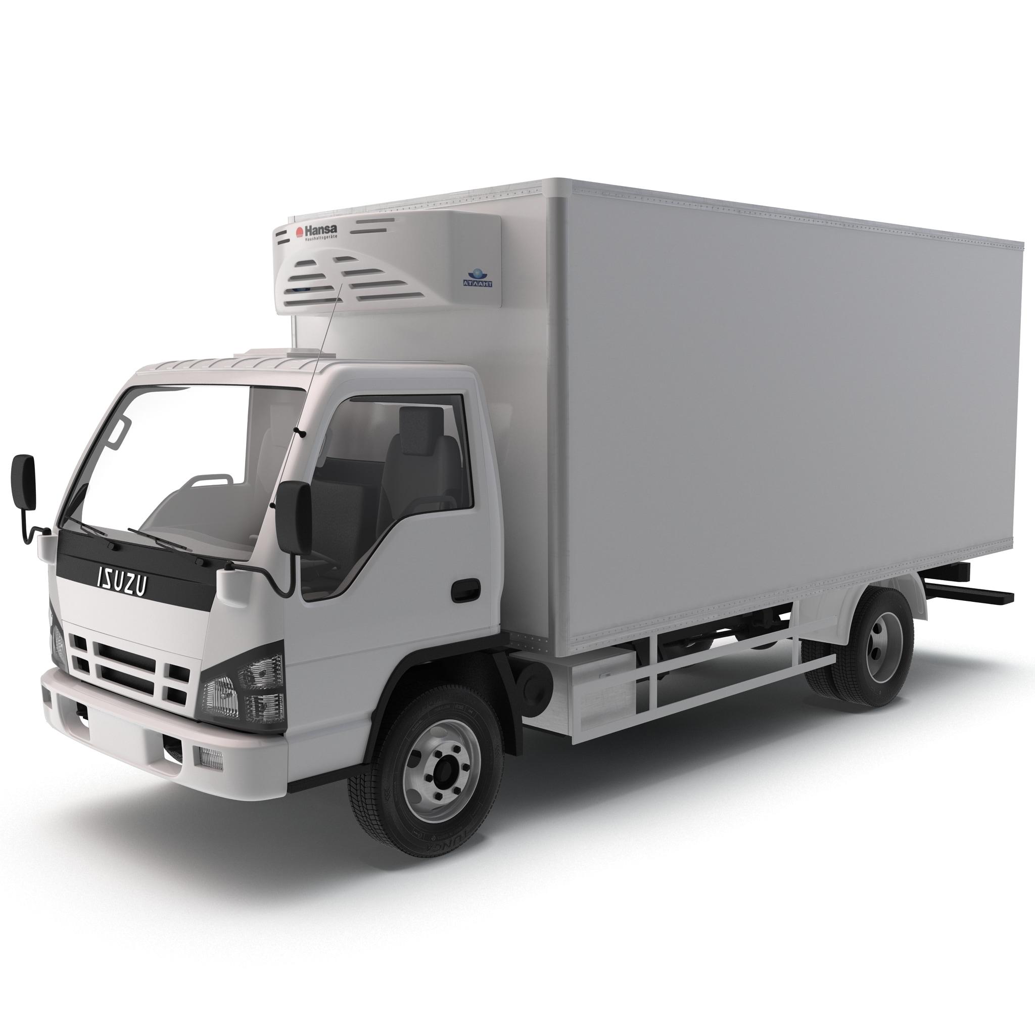 3ds max refrigerator truck isuzu npr. Black Bedroom Furniture Sets. Home Design Ideas