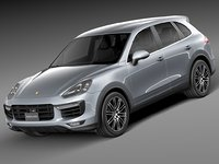 3d 2015 porsche cayenne model