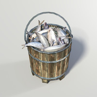 bucket fish 3d obj