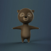 3d cartoon bear character animation model