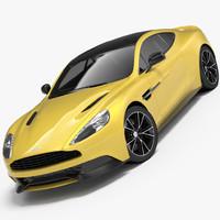 aston martin vanquish 2013 3d model