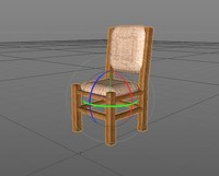 cinema4d wood chair