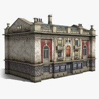 neoclassical 3-storey house 3d 3ds