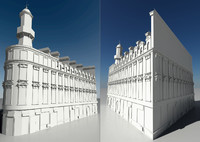 building classical style 3d model
