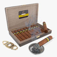 cigars wood box 3d model