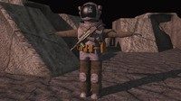 deep space astronaut post 3d model