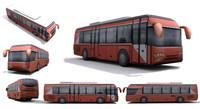 Low-poly bus - set 03