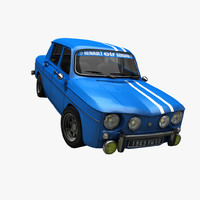 3d model of vintage rally car
