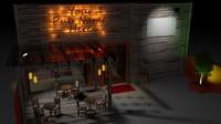 pub bar 3d 3ds