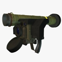 3ds max low-poly fgm-148 javelin