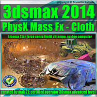 3ds max 2014 PhysX Mass Fx Cloth star force