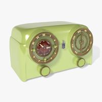 1950s vintage radio 3d max