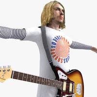 kurt cobain 3d model