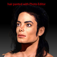 3d michael jackson head male