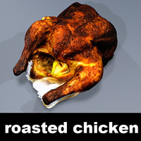 3d model roasted chicken