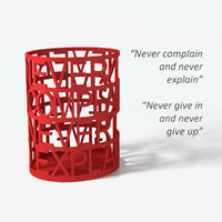quote pen holder 01 3d model
