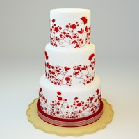 wedding cake 10 3d model