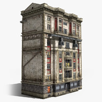neoclassical 6-storey house 3d 3ds