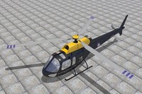 3d model squirrel helicopter raf