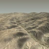 terrain afghan afghanistan 3d c4d