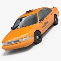 3d max chevrolet caprice taxi