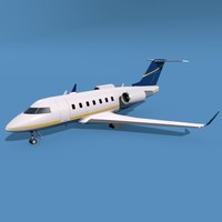 3d model jet private bombardier