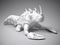 3d crayfish rhino statue