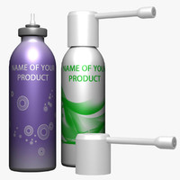 aerosol spray 3d model