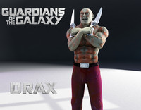 3d model drax guardians
