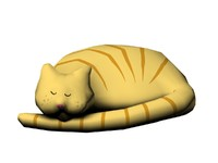 sleepy cat 3d max