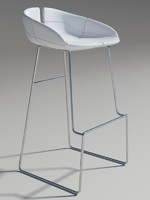 Fjord bar Stool high white