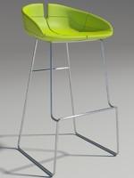 3d model fjord bar stool green