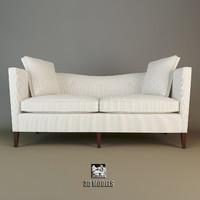 baker sofa 6365-75 3d model