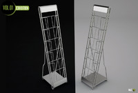 3d leaflet rack model