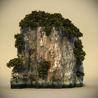 rock plants 3d max