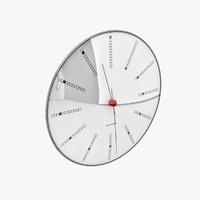 3d arne jacobsen clock s