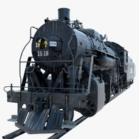 obj steam locomotive