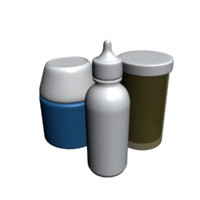 pill containers 3d model