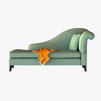 3d modeled sofa french model